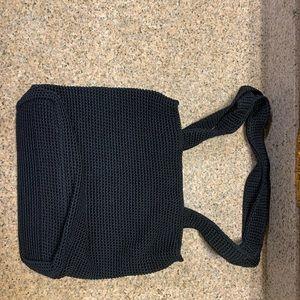 The Sak Black Crochet Tote